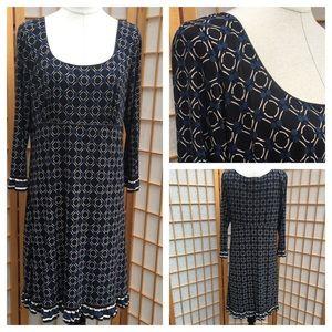 Max Studio Stretch Print Dress SZ XL